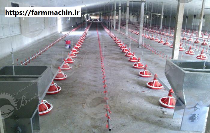 تولید تجهیزات سالن مرغداری